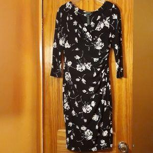 Lauren Ralph Lauren Faux Wrap Floral Sheath Dress